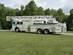 1995 SIMON DUPEX Duplex/ LTI 85 Ariel Ladder Fire Truck salvage / Parts For Sale