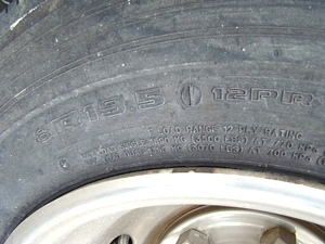 19.5 TIRES AND WHEELS USED FOR FORD MOTORHOMES FOR SALE