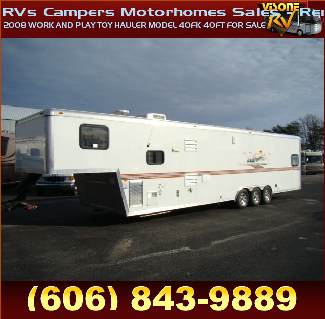 Used Rv Parts 2008 Work And Play Toy Hauler Model 40fk 40ft For Sale Rvs Campers Motorhomes Sales Rentals Liberty Nickel Sold Ebay Used Toy Hauler