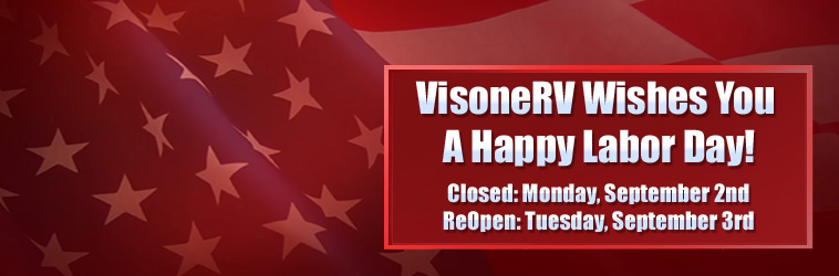 Visone RV Parts Holiday Hours 4th of July 2019