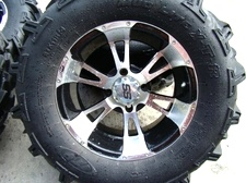 ITP TIRES AND WHEELS USED FOR SALE ( LIKE NEW ) FITS YAMAHA RHINO