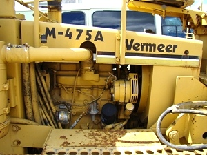 Used RV Parts Vermeer M-475 Trencher, 4WD Front Backhoe Diesel For