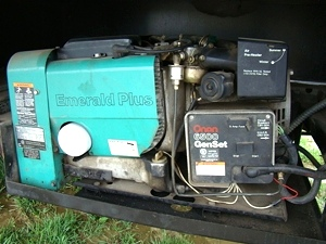 used rv parts onan 6500 emerald plus gen set generator for sale used rh usedrvparts visonerv com Onan 6500 Generator Battery 6500 Onan Motorhome Generator